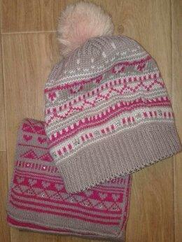 Головные уборы - Шапка и шарф женские, 0