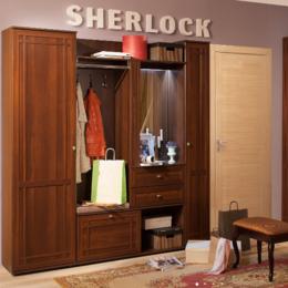 """Шкафы, стенки, гарнитуры - Модульная прихожая """"Sherlock"""" (орех), 0"""
