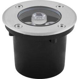Интерьерная подсветка - Светильник тротуарный, 3LED холодный белый, 3W, 100*H80mm, внутренний диаметр..., 0