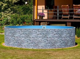 Бассейны - Сборный бассейн Azuro Stone круглый 3,6 х 1,2 м…, 0