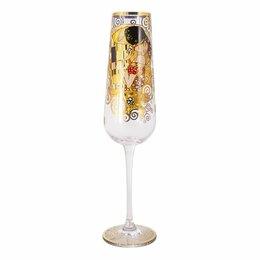Бокалы и стаканы - Бокал для шампанского стеклянный 220 мл золото…, 0