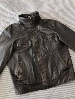 Куртки - Кожаная куртка мужская , 0