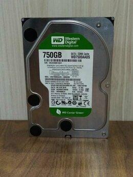 Внутренние жесткие диски - HDD 3,5 WD green 750GB SATA б/у, 0