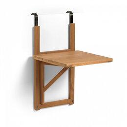 Столы и столики - Стол складной настенный коричневый, акация…, 0
