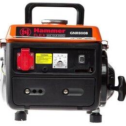 Электрогенераторы - Бензиновый генератор Hammer GNR800B (600 Вт), 0