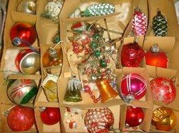 Ёлочные украшения - Елочные игрушки винтаж 1960х годов набор, 0