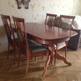 Столы и столики - Раздвижной стол обеденный стулья, 0