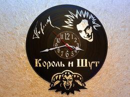 Часы настенные - Часы Король и шут из виниловой пластинки, 0
