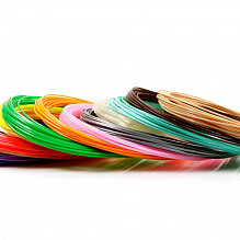 Расходные материалы для 3D печати - UNID Набор пластика для 3D ручек: PLA-15 (по 10м. 15 цветов в коробке), 0