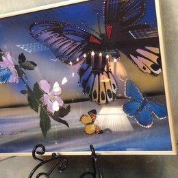 Картины, постеры, гобелены, панно - Картина с кристаллами Swarovski - Полет бабочки, 0