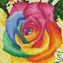 Рукоделие, поделки и товары для них - Алмазная мозаика Paintboy радужная роза , 0