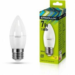Лампочки - Светодиодная лампа E27 7W 3000K C35 Ergolux…, 0