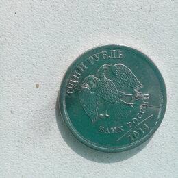 Монеты - Продам 1 рубль 2014г, брак, раскол, 0
