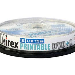 Для производства и тиражирования CD и DVD дисков - Диск DVD+R Mirex 4.7 Gb 16x Cake Box (10) Ink Prin, 0