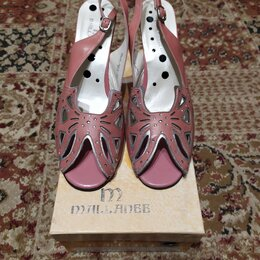Босоножки - Босоножки на каблуке Mallanee(39 размер), 0