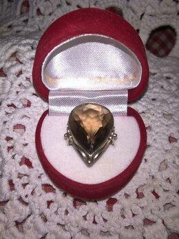 Кольца и перстни - кольцо серебро раухтопаз винтаж, 0