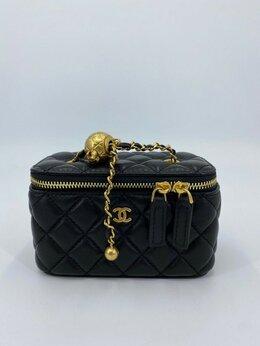 Косметички и бьюти-кейсы - Косметичка Chanel кожа черная женская новая, 0
