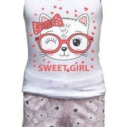 Домашняя одежда - Комплект нижнего белья для девочки ( шортики + майка) 104, 128, 0