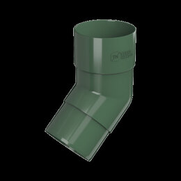 Кровля и водосток - ТН ПВХ колено трубы 108°, зеленый, шт., 0