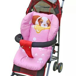 Аксессуары для колясок и автокресел - Новая вкладка в стул, коляску (розовая с собачкой), 0
