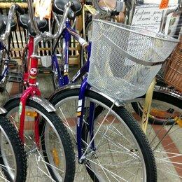 Велосипеды - велосипед дорожный Stels с колесами 28 дюймов с корзиной, 0