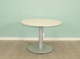 Компьютерные и письменные столы - Стол офисный круглый 75х80 см, 0