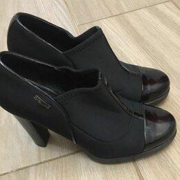Ботильоны - Ботильоны женские на каблуке, 38 р. чёрные Calvin Klein, 0