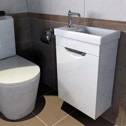 Тумбы - Мини тумба с раковиной в туалет Emmy Милли Комо 40, 0
