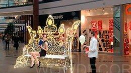 Новогодний декор и аксессуары - Светящаяся композиция Корона, 0