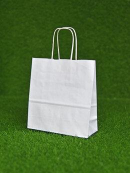 Бумага и пленка - Крафт пакет с кручеными ручками, 280х240х140 мм…, 0