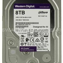 "Внешние жесткие диски и SSD - Жесткий диск 8Tb SATA3 3.5"" Western Digital Caviar Purple [WD82PURX], 0"