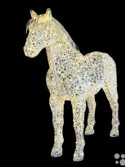 Новогодний декор и аксессуары - Световая фигура Лошадь (цвет на выбор), 0