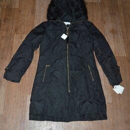 Пуховики - Куртка пуховая Calvin Klein, длинная, черная, оригинал из US, 0