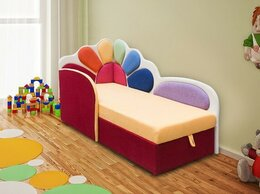 Диваны и кушетки - Детский диван Семицветик с бортиком и матрасом, 0