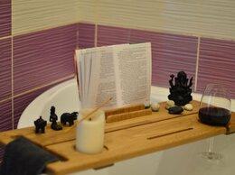 Полки, стойки, этажерки - Столик-полка для ванны из дуба, 0