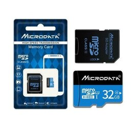 Карты памяти - Карта памяти MicroSD 32GB Class 10 с адаптером, 0