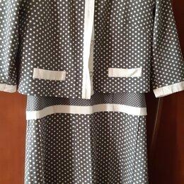 Платья - Платье с жакетом в горох, 0