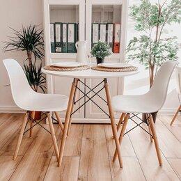 Столы и столики - Кухонный круглый стол Eames Eiffel DSW, белый,…, 0