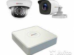 Камеры видеонаблюдения - Комплект видеонаблюдения hiwatch на 2 камеры 1080P, 0