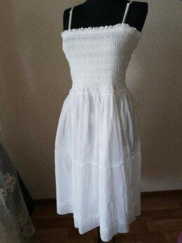 Платья - Турецкий хлопковый сарафан с вышивкой , 0