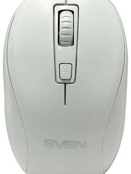 Мыши - Мышь беспроводная SVEN RX-255W белая (2.4 GHz, 3+1, 0