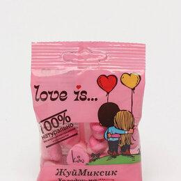 Подарочные наборы - Мармелад Love is жевательный 24 пакетика в блоке в ассортименте, 0