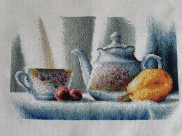 """Картины, постеры, гобелены, панно - Вышивка, вышитая картина """"Чайник"""", 0"""