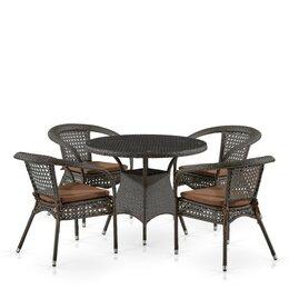 Кресла и стулья - Комплект плетеной мебели из иск. ротанга Лион-1A…, 0