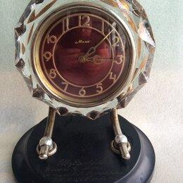 Часы настольные и каминные - Настольные часы Маяк в хрустале, 0