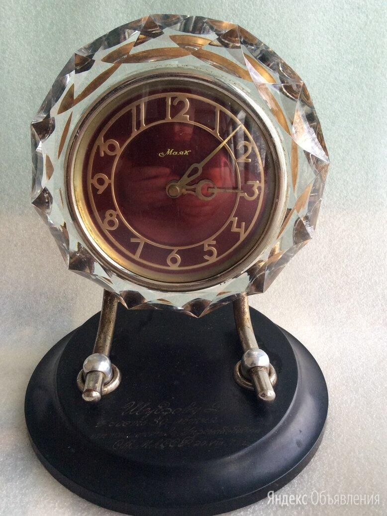 Настольные часы Маяк в хрустале по цене 2300₽ - Часы настольные и каминные, фото 0