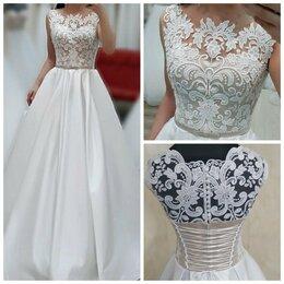 Платья - Атласное свадебное платье Мадонна размер 48-50, 0