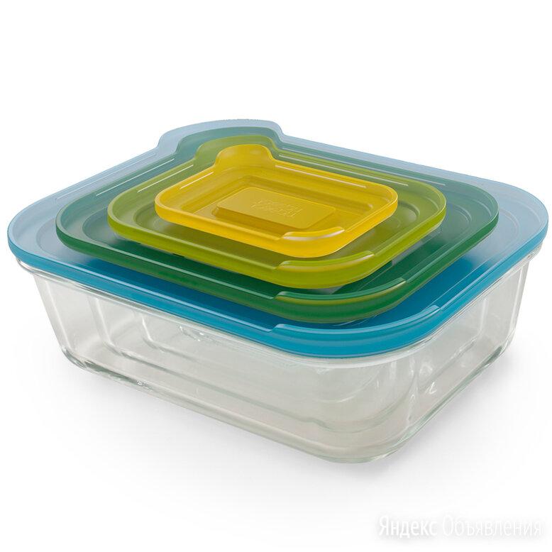 Набор из 4 контейнеров Nest стеклянный Joseph Joseph по цене 2800₽ - Контейнеры и ланч-боксы, фото 0