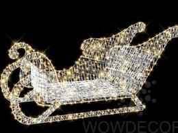 Новогодний декор и аксессуары - Световая фигура Сани, 0