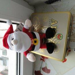 Мягкие игрушки - Санта-Клаус,  мягкая игрушка новая, говорящая, 0